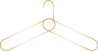 Brand Icon - Hanger - Gold