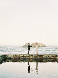 Liz + Wes Land's End Sutro Baths San Francisco Engagement Session 0016