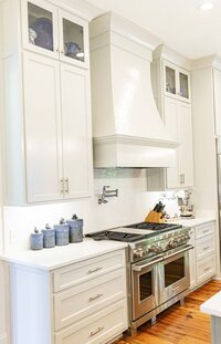 white kitchen renovation by Moda Designs