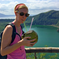 Me on Taal with a coconut (1 of 1)