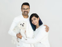 father-daughter-family portrait-studio-oakville- puja-misra- best