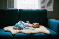 Natural light portrait of a newborn, photographed by Sweetwater.