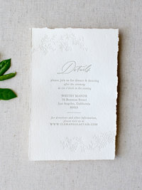 Semi-Custom Invitation Collection - Cascading Beauty Suite with Details Card Add-on