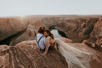 horseshoe bend sunset engagement
