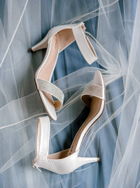Ellicottville Wedding Blue Shoes