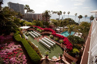 Ceremony location for La Valencia La Jolla San Diego wedding venue
