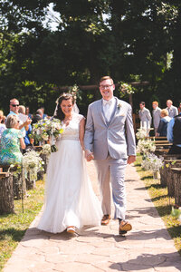 bride-groom-recessional-old-blue-rooster-ohio