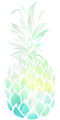PineappleWatercolor_GreenYellow
