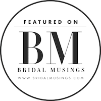black and white bridal musings badge