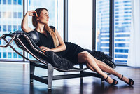 stock photo - glamorous woman - highrise