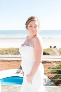 Sarah's bridal portrait on Folly Beach, SC by Lindsey Leigh Weddings