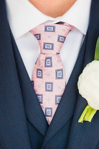 Baltimore Wedding Photographer -  Blue Suit Pink Tie
