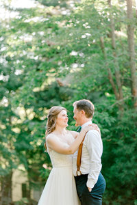 New England Wedding Photographer traveled to the White Mountains to photograph this bride and Groom for their Camp Wedding