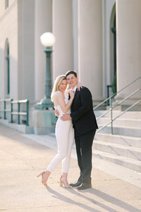 A DC wedding photographer captures beautiful modern wedding photos.