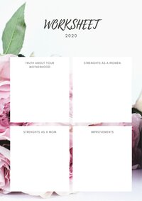 Copy of Pink and White Floral Watercolor Daily Planner