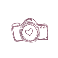 rose gold Drawn Camera
