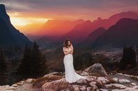 Luxury bridal session in the mountains