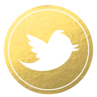 Gold-Foil-Media-Buttons-Set-Twitter