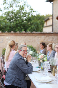 Womens Retreat Tuscany Italy dinner