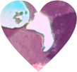 glitter heart confetti purple