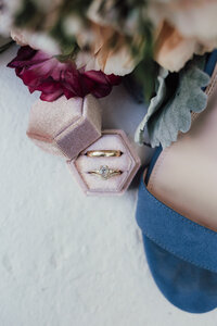Christine Quarte Photography - Ring Photo with Shoes and Bouquet