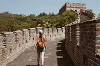 woman walking the great wall