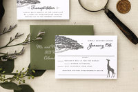 Brittney Nichole Designs Instagram Images - Zoo Wedding Invitation Response Card