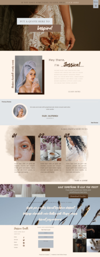 Blue and Brown Showit Template