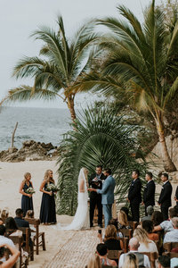 puerto vallarta beach wedding ceremony