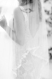 Bride Black and white photo