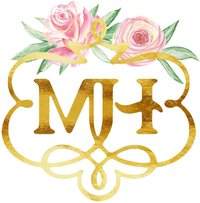 M. Harris Logo - Only MH - White Background