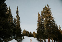 outdoor winter breckenridge colorado elopement photographer