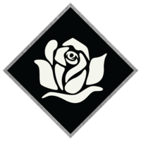 Black Diamond Floral Icon for Web