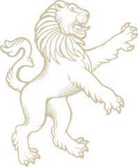 LEGACIES UNTOLD LION GRAPHIC GOLD PNG
