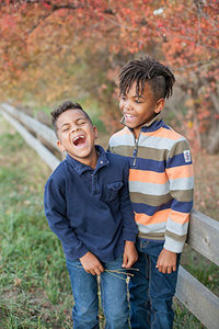 BoysLaughingInFallPortrait
