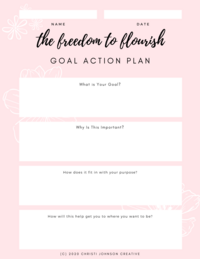 Goal Setting Action Plans