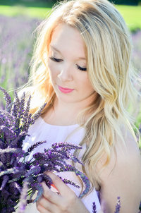 Aberdeen High School Senior Portraits Lavender Field Hoquiam WA Juli Bonell Photography