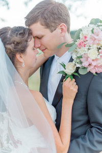 Bride and Groom portrait at Piedmont Golf Club