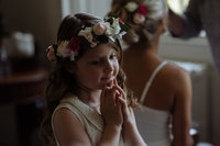 flower girl at Rise Hall. Alternative wedding photographer