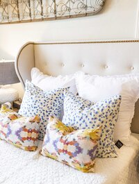 Colorful pillows and home decor in New Albany, Mississippi