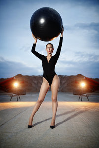 natalie setareh makeup artist excerise ball legs editorial shoot