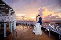 Sarasota-Bradenton Wedding photography of bride and groom kissing on the beach at sunset