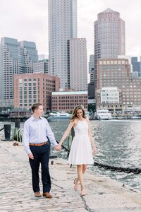 Seaport Boston Engagement Photographer Caroline Winn Photography