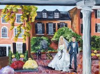 Washington DC Decatur House Live Wedding Painting