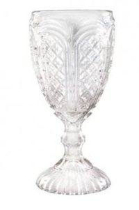 clear carousel goblet