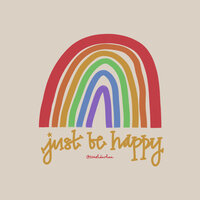just be happy handlettered quote