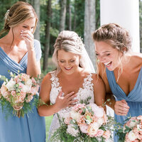 Huntsville Alabama Wedding - Bridemaids laughing with bride