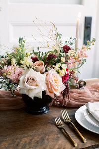 Fall inspired centerpiece by Solstice Floral