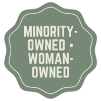 minority owned women-owned business - badge by Zoe Larkin Photography