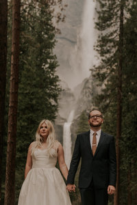 elopement at Yosemite falls